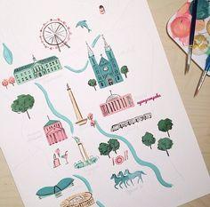 Drawing in progress - Jakarta by Ayang Cempaka