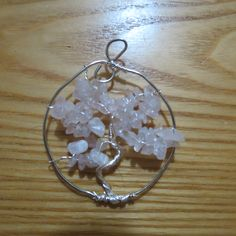 rose quartz tree of life...made by me