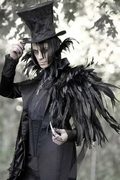 Very dark, I like the feathers