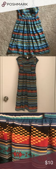 Aztec style dress Fun colored dress Xhilaration Dresses Midi
