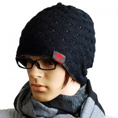 Stylish Chic Openwork Jacquard Beanie Hat For Men, BLACK in Hats | DressLily.com