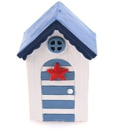 Fairy Garden Beach House With Striped Door