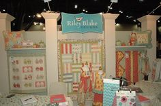 Frolic featured in the Riley Blake booth at Quilt Market in Houston 2013
