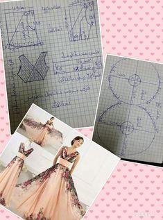 Coat Patterns, Dress Sewing Patterns, Clothing Patterns, Gown Pattern, Jacket Pattern, One Piece Frock, Evening Dress Patterns, Modele Hijab, Merian