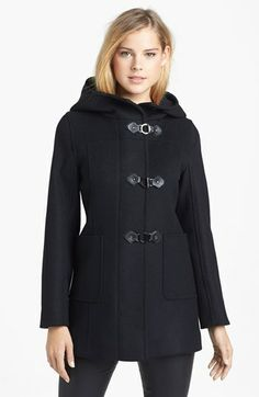 Kristen Blake Hooded Wool Blend Duffle Coat (Nordstrom Exclusive) available at #Nordstrom