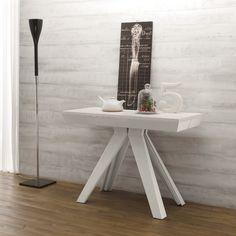 Consolle Veronika allungabile in tavolo 3 metri in alluminio e legno