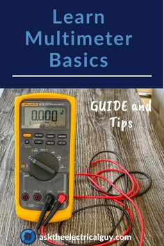Learn how to use and read a multimeter! We start with a basics electricity guide and lay out the steps you need to know to use your multimeter for home electrical projects. Electrician apprentices can reference the guide and tips too! Basic Electrical Wiring, Electrical Projects, Electrical Maintenance, Electrical Installation, Electrical Engineering, Tech Magazines, Home Tech, Urban Survival, Home Repair