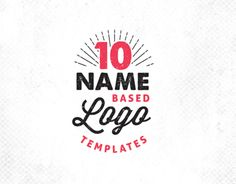 10 Logo templates available for purchase with the link at the bottom. Purchases via Creative Market.Thanks for viewing!