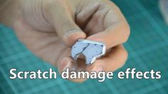 การทำ รอยถลอก แบบจุ่มจิ้ม :Scratch damage effects for Gunpla Gundam