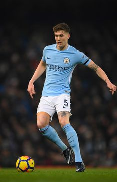 John Stones Photos - City player John Stones in action during the Premier League match between Manchester City and Newcastle United at Etihad Stadium on January 2018 in Manchester, England. - Manchester City v Newcastle United - Premier League Manchester City, Manchester England, German Men, English Men, Newcastle, Paris Saint Germain Fc, John Stones, Spanish Men, Soccer Guys