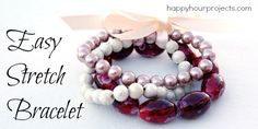 You searched for elastic bracelets - Happy Hour Projects Handmade Valentine Gifts, Beaded Jewelry, Beaded Bracelets, Jewellery, Easy Stretches, Crafts For Seniors, Beading Projects, Bracelet Tutorial, Stretch Bracelets