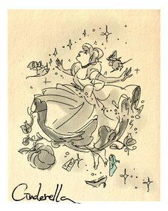 Disney Movie Sketches by Masuo- Cinderella