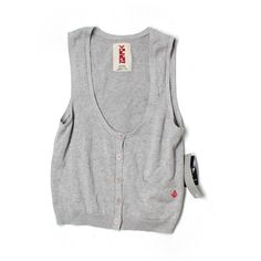 Pre-owned Volcom Sweater Vest (18 CHF) ❤ liked on Polyvore featuring outerwear, vests, grey, volcom, grey vest, grey sweater vest, gray sweater vest and volcom vest