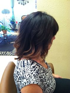 Ombre on Short Hair.