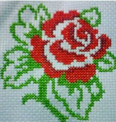 This Pin was discovered by Dia Cross Stitch Heart, Cross Stitch Cards, Cross Stitch Flowers, Cross Stitch Kits, Cross Stitch Designs, Cross Stitching, Cross Stitch Embroidery, Hand Embroidery, Cross Stitch Patterns