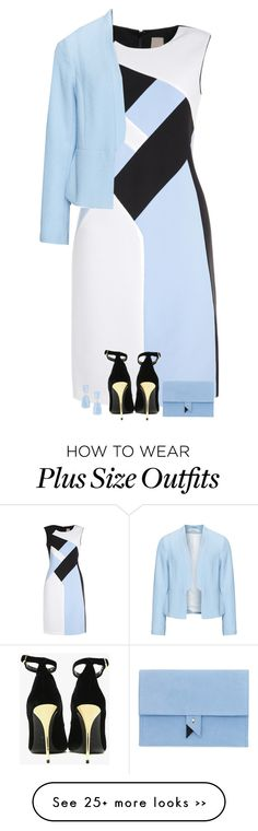 """""""icy"""" by divacrafts on Polyvore featuring Zizzi, Balmain, Dora, Kendra Scott and Original"""