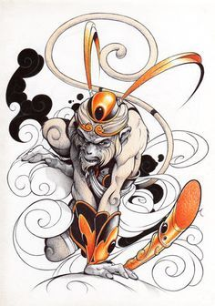 sun wukong tattoo - Google Search
