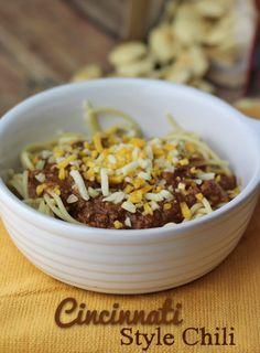Crockpot Cincinnati Style Chili