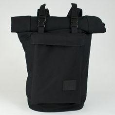 Portland designer Tim Adam created these rugged roll-top backpacks that are the ideal everyday carrier. Hand constructed of treated canvas with two weatherproof layers, they feature reinforced bottoms and double stitched seams. An exterior zipper pocket provides for easy access to essentials. Adjustable padded straps comfortably secure the bag for a ramble around town or bicycle commute. Made in Portland.