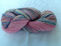 Bubblegum and Taffy two skeins two ply  handspun by housecatshats
