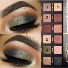 Fall Eyeshadow Makeup Tutorials - Make up and nails - Make Up Tutorial Contouring, Fall Makeup Tutorial, Makeup Pictorial, Makeup Goals, Makeup Tips, Makeup Tutorials, Makeup Ideas, Beauty Makeup, Eyeshadow Tutorials