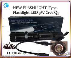 Light Flashlight TYPE  Flashlight LED 3W Cree Q5.NEW