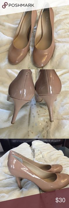 Nine West nude heels Nine West  nude patent leather heels Nine West Shoes Heels