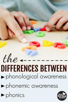 Phonological Awareness, Phonemic Awareness, & Phonics - This Reading Mama