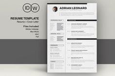 Resume Template by ResumeTools on Etsy