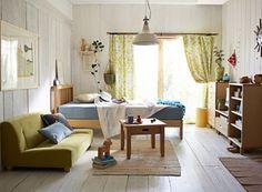 白木の家具がさわやかなワンルーム