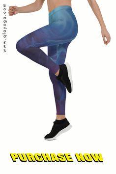 Running Leggings, Blue Leggings, Sports Leggings, Workout Leggings, Yoga Wear, Gym Wear, Festival Wear, Festival Outfits, Body Sculpting