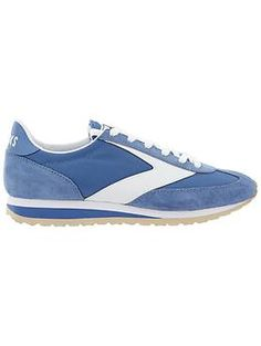 Varsity Vanguard Shoe by Brooks - The retro-sleek sneaks ready to hit the streets in microsuede with a pop of chambray.