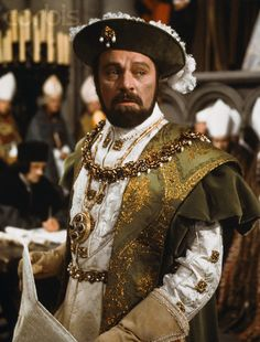 "Richard Burton as Henry VIII in ""Anne of the Thousand Days""(1969)."