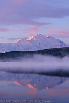 Mount McKinley Denali National Park, Alaska. Highest mountain in North America at 20,320 feet......Mount McKinley or  Denali  is the world's highest mountain from base to peak wholly on land. It rises 19,000 feet from its base. Mount Everest rises about 15,000 feet from its base.