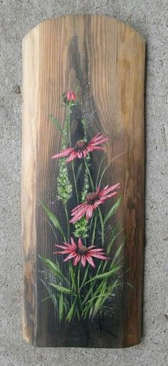 Do kwiatków powróciłam I returned to the flowers Pallet Painting, Tole Painting, Painting On Wood, Wood Paintings, Garden Painting, Flower Paintings, Arte Pallet, Pallet Art, Painted Boards