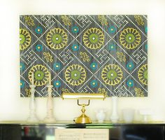 DIY Stenciled and Painted Wall Art with Royal Design Studio + Modern Masters Metallic Paints + DecoArt Chalky Finish Paints