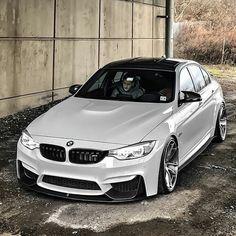 White BMW M3!⚪⚫ Via @classysavant! Tag a BMW fan! —- Photo by @f80awm3