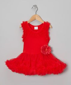 Take a look at this Red Ruffle Swing Dress - Infant, Toddler & Girls by Tutus by Tutu AND Lulu on #zulily today!