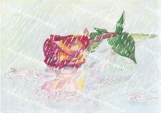 Rose in Rain Rain, Gallery, Artwork, Painting, Art Work, Work Of Art, Auguste Rodin Artwork, Painting Art, Paintings