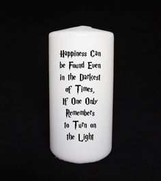 Harry Potter candle Dumbledore quote unscented white by LoyalNinja