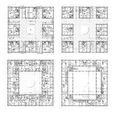 bloc d'urbanisme ; Architecture Drawings, Architecture Plan, Residential Architecture, The Plan, How To Plan, Architectural Floor Plans, Plan Drawing, Apartment Plans, Sustainable Architecture