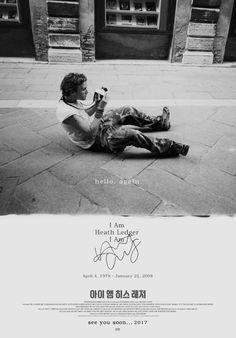 <아이 앰 히스 레저 I Am Heath Ledger> Teaser posters. 2017 Coming soon. Designed by 빛나는. Bitnaneun