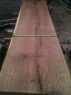 25 inches of quarter-sawn White Oak. The medullary rays are amazing!