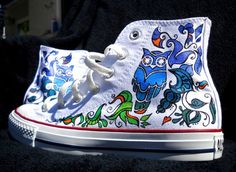 Hand Painted Converse Shoes  Owl design by Marleed on Etsy, $135.00