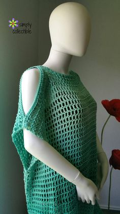 Crochet Tunic Pattern, Coraline's Endless Summer Cover-up, SimplyCollectible…. Crochet Tunic Pattern, Coraline's Endless Summer Cover-up, SimplyCollectible… - Poncho Crochet, Crochet Tunic Pattern, Mode Crochet, Crochet Shirt, Easy Crochet, Knitting Patterns, Crochet Patterns, Crochet Sweaters, Knitting Projects