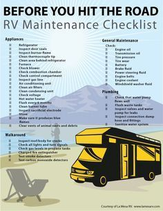 Before you hit the road, make sure to check this RV maintenance list - won't leave without doing this first!