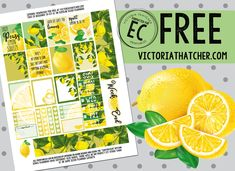 Free Printable Lemons Planner Stickers from Victoria Thatcher