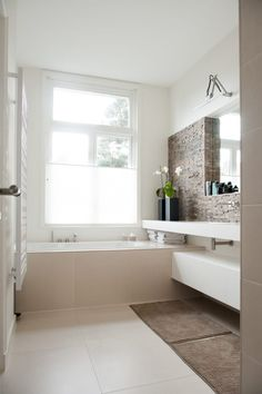 How to Finish Your Basement and Basement Remodeling – House Remodel HQ Contemporary Bathrooms, Modern Bathroom, Small Bathroom, Concrete Bathroom, Bathroom Faucets, Bathroom Design Inspiration, Bathroom Interior Design, Dream Bathrooms, White Bathrooms