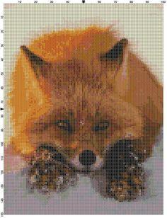 Cross Stitch Pattern Red Fox in the Snow by theelegantstitchery