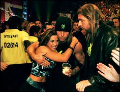 Mickie James with DX - WWE